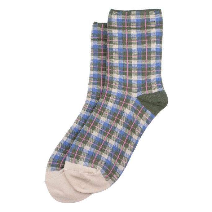 Socks Tartan Checkers Made With Cotton & Spandex by JOE COOL