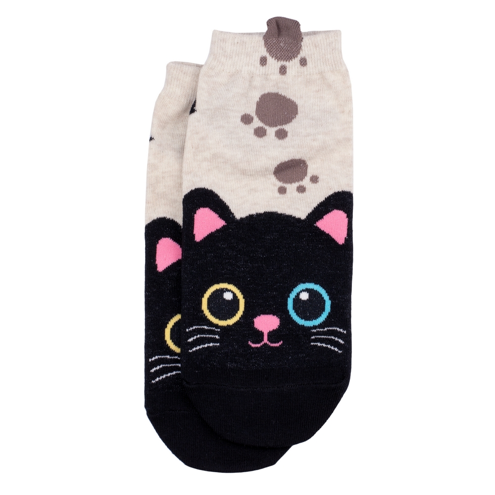 Socks Pussy Paws Made With Cotton & Spandex by JOE COOL