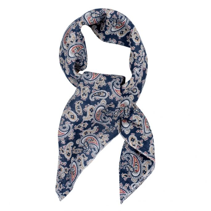 Scarf Kerchief Paisley Classic Made With Cotton by JOE COOL