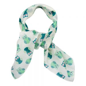 Scarf Kerchief Owl Made With Cotton by JOE COOL