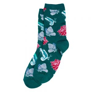 Socks Floating Butterflies Made With Cotton & Spandex by JOE COOL