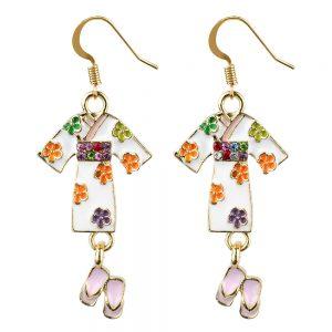 Drop Earring Kimono Made With Tin Alloy by JOE COOL