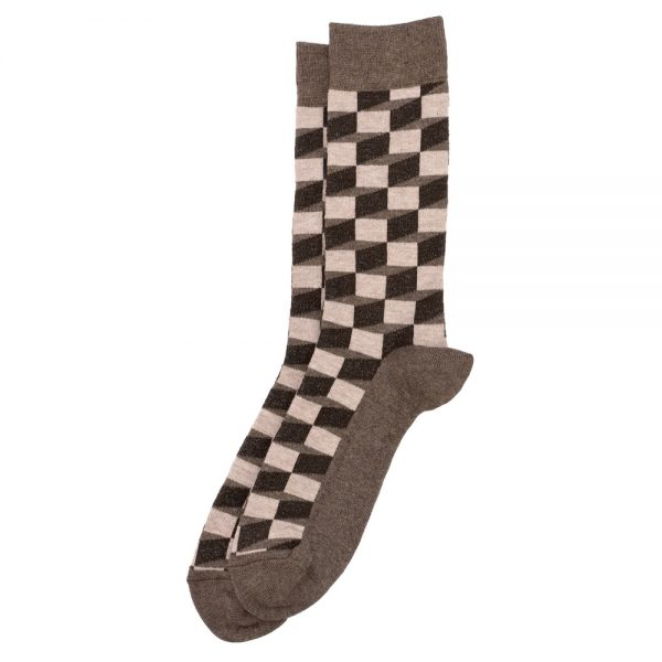 Socks Illusion Cube Made With Cotton & Polyester by JOE COOL