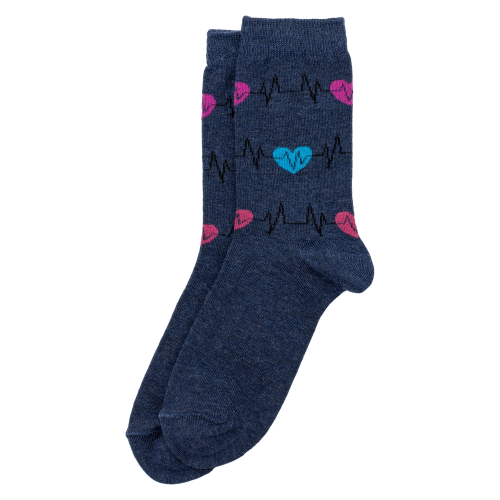 Socks Heartbeat Made With Cotton & Polyester by JOE COOL
