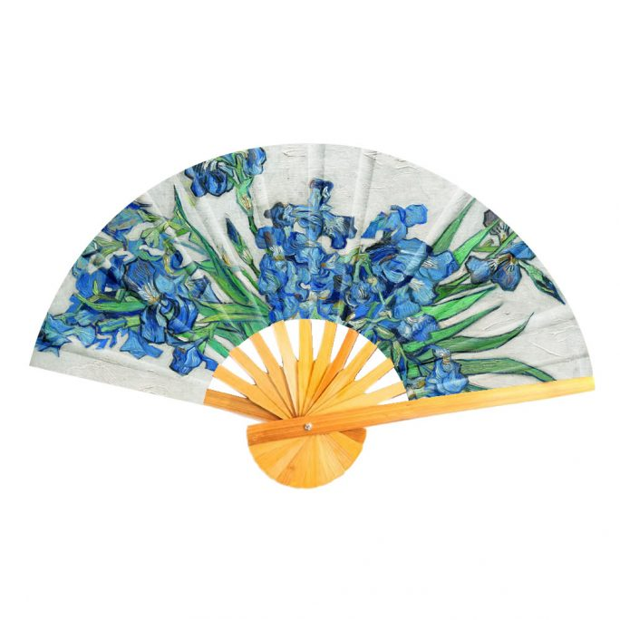 Fan Van Gogh Irises Made With Cotton & Bamboo by JOE COOL