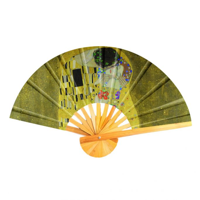 Fan Klimt The Kiss Made With Cotton & Bamboo by JOE COOL