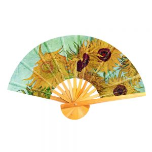 Fan Van Gogh Sunflowers Made With Cotton & Bamboo by JOE COOL
