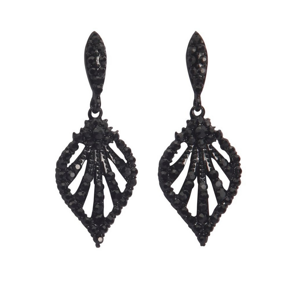 Drop Earring Marcasite Grand Hotel Made With Crystal Glass & Zinc Alloy by JOE COOL