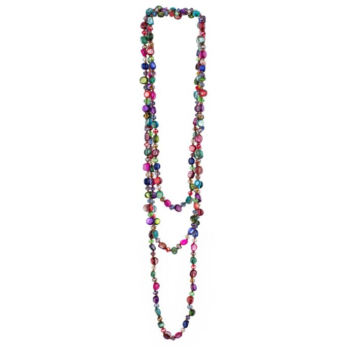 Necklace Delicate Colour Mix Made With Gem Stone by JOE COOL