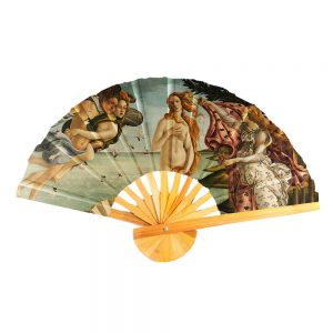 Fan Botticelli Birth Of Venus Made With Cotton & Bamboo by JOE COOL