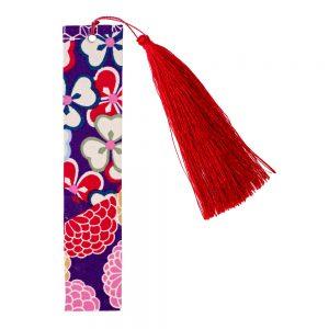 Book Mark Kimono Print With Tassel Made With Fabric by JOE COOL