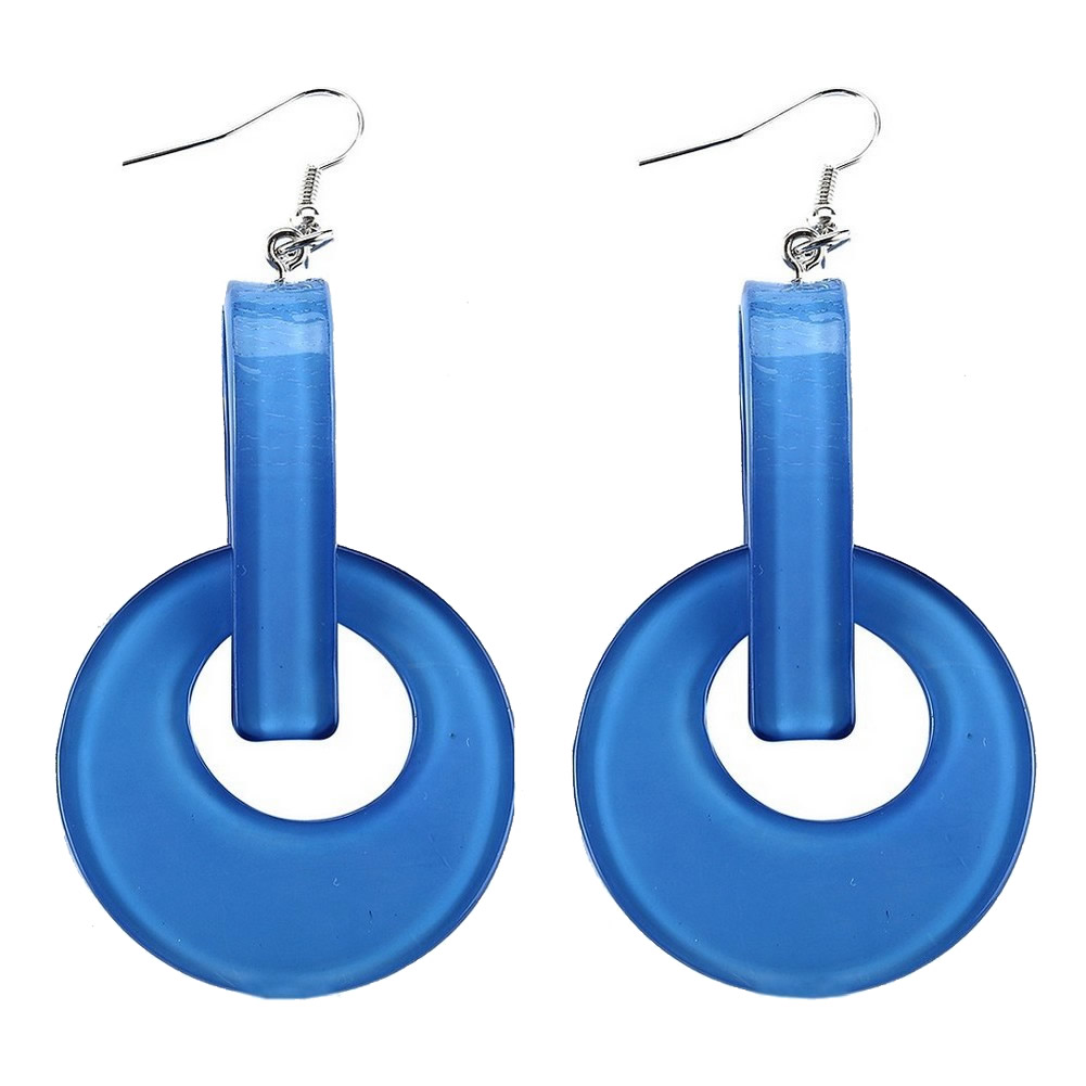 Drop Earring 45mm Disc Made With Acrylic by JOE COOL