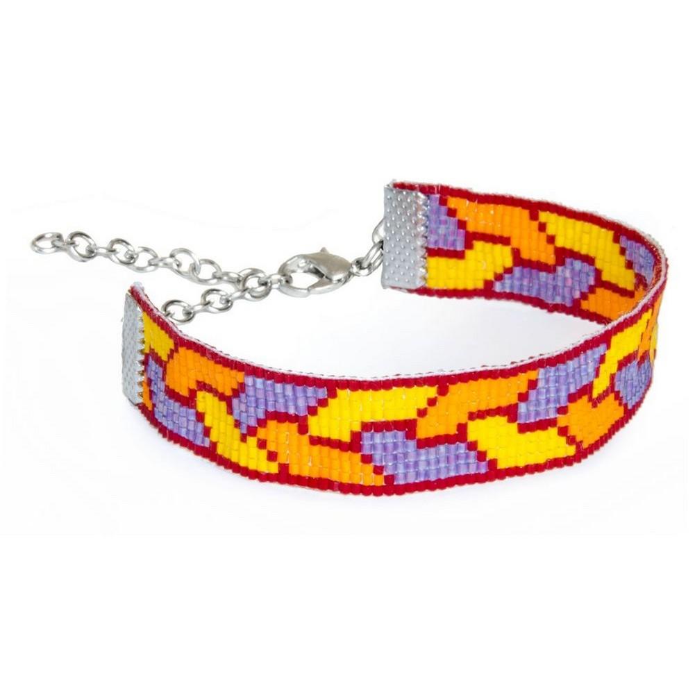 Bracelet Plait With Miyuki Beads Made With Glass by JOE COOL