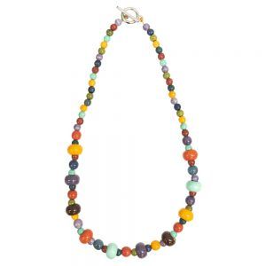Bead String Necklace Cirque Du Temps Made With Ceramic by JOE COOL