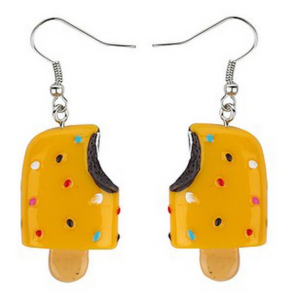 Drop Earring Ice Lolly With Sprinkle Made With Resin by JOE COOL