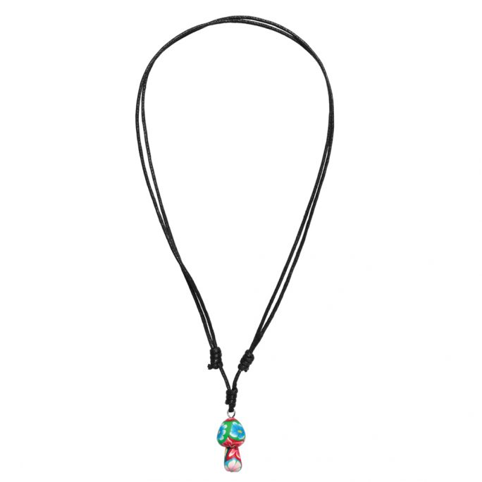'any Length' Necklace With A Pendant Mushroom Made With Fimo & Cord by JOE COOL