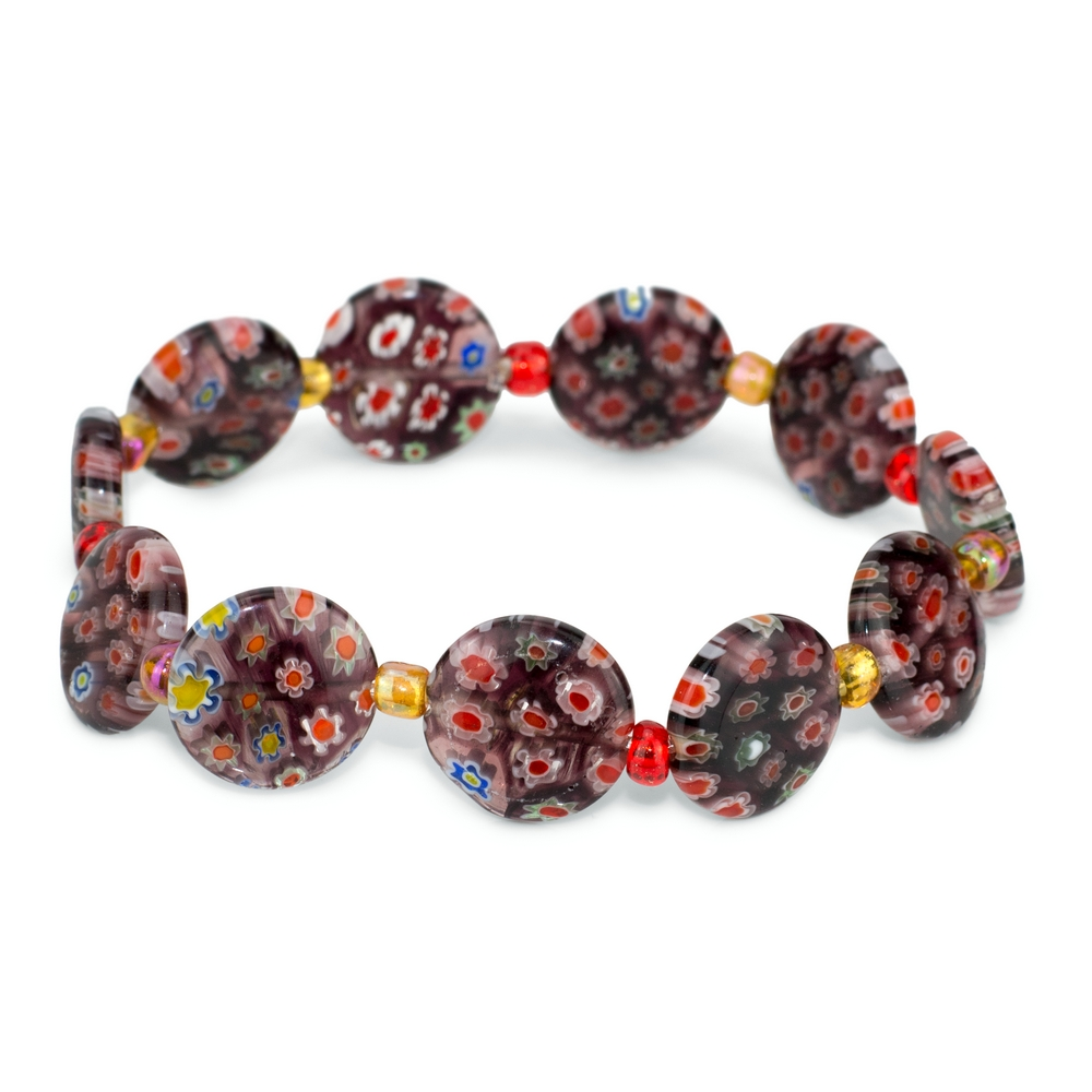 Bracelet Milliefiori Made With Glass Beads by JOE COOL