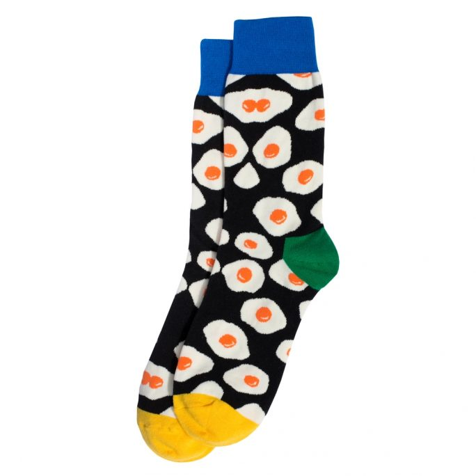 Socks Fried Egg Made With Cotton & Spandex by JOE COOL