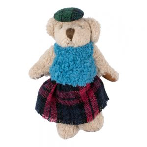 Clutch Pin Brooch Highland Fling Bear Made With Tin Alloy & Fabric by JOE COOL