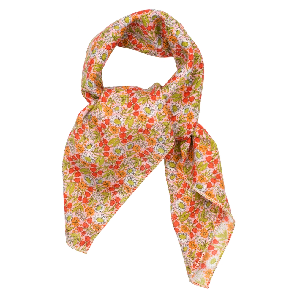 Scarf Kerchief Morris Inspired Fresh Tone Made With Cotton by JOE COOL