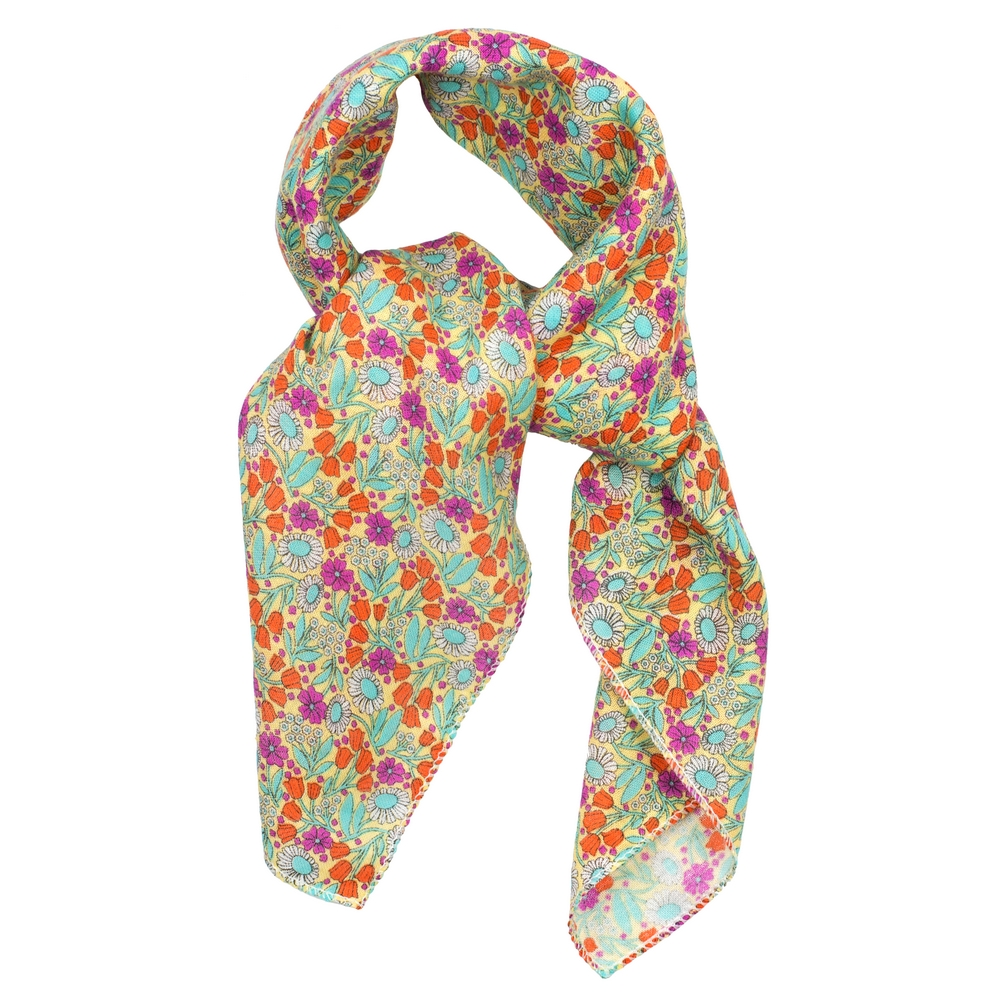 Scarf Kerchief Morris Inspired Summer Hue Made With Cotton by JOE COOL