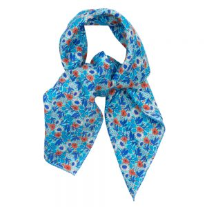 Scarf Kerchief Morris Inspired Sky Tones Made With Cotton by JOE COOL