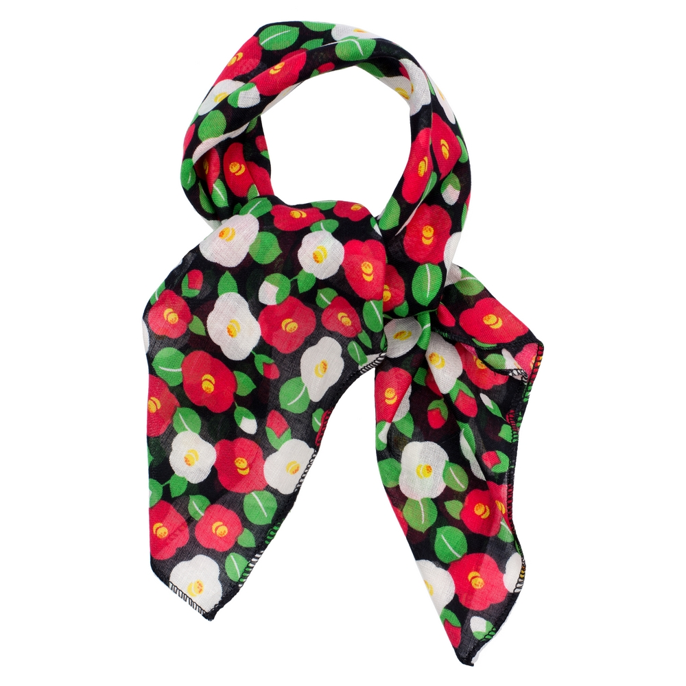 Scarf Kerchief Poppy Duo Made With Cotton by JOE COOL