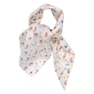 Scarf Kerchief Perky Penguin Made With Cotton by JOE COOL