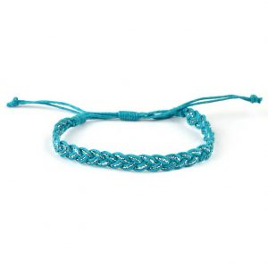 Bracelet Self Coloured With Glitter Strand Weave Made With Cotton by JOE COOL