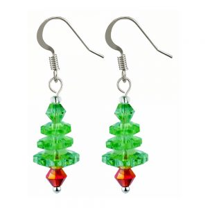 Drop Earring Tree On Gift Card Made With Crystal Glass by JOE COOL
