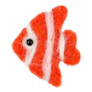 Clutch Pin Brooch Fish Made With Felt by JOE COOL