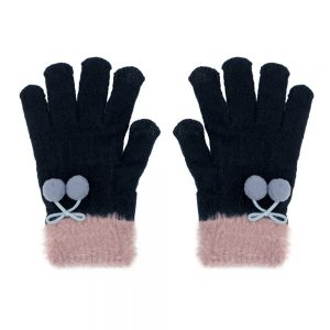 Gloves Pompom Bow Made With Acrylic by JOE COOL