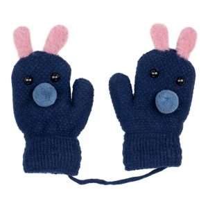 Gloves Kids Cute Bunny Made With Acrylic by JOE COOL