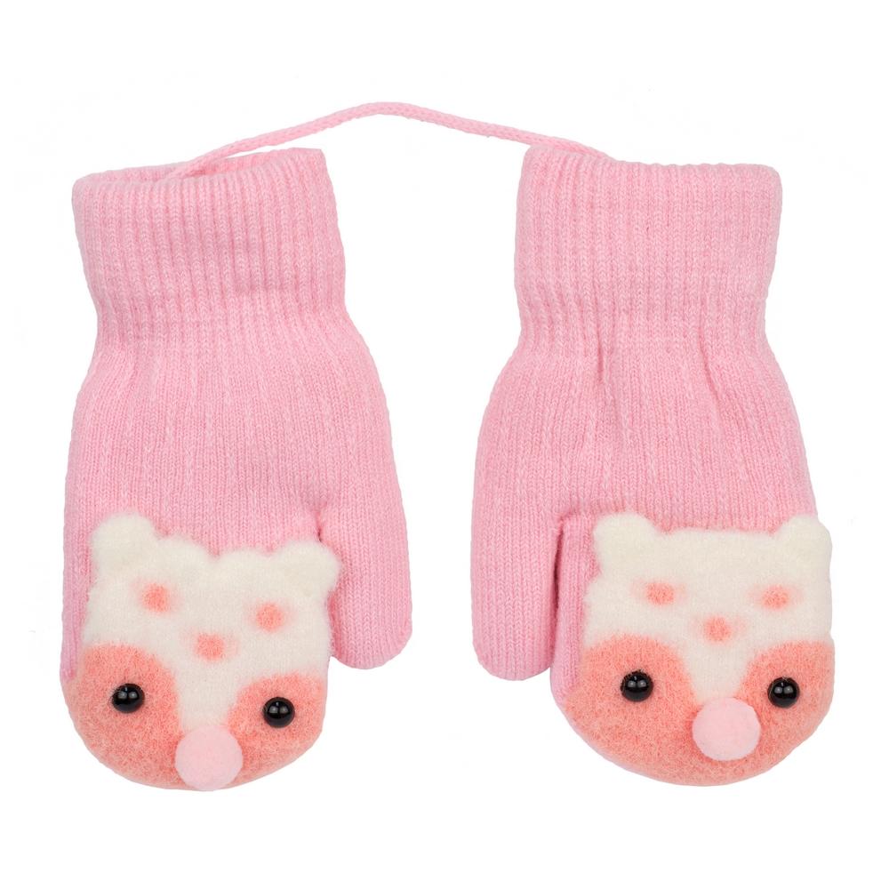 Gloves Cute Fox Made With Acrylic by JOE COOL