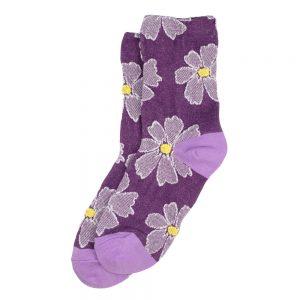 Socks Big Daisy Made With Cotton & Spandex by JOE COOL