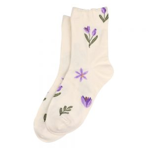 Socks Sweet Flower Made With Cotton & Spandex by JOE COOL