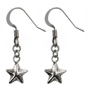 Drop Earring Facet Star Made With 925 Silver by JOE COOL