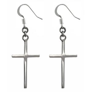 Drop Earring Classic Cross Made With 925 Silver by JOE COOL