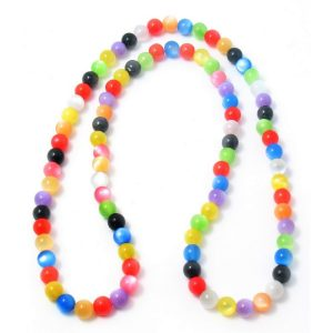 Necklace Cats Eye Beads 120cm Made With Resin by JOE COOL