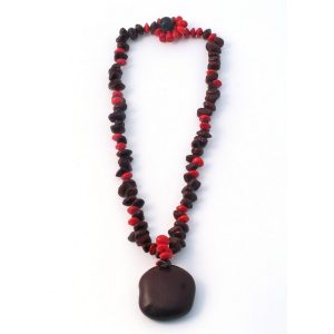 Necklace Large Bead X 61cm Made With Seed by JOE COOL