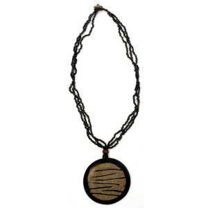 Necklace Stripe Inlay 68mm Made With Resin by JOE COOL