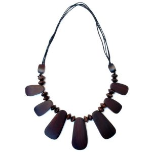 Necklace 7 Peg 60cm Made With Wood by JOE COOL