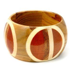 Bangle Split Circle Design Made With Wood by JOE COOL