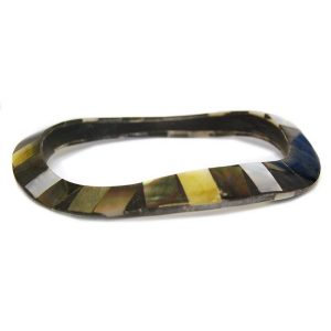 Bracelet Undulating Abalone Tile Made With Shell by JOE COOL
