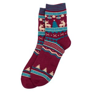 Socks Gents Merry Christmas Tree Made With Cotton & Spandex by JOE COOL
