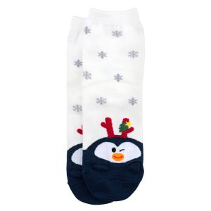 Socks Festive Penguin Made With Cotton & Spandex by JOE COOL