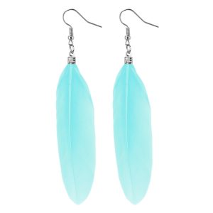 Drop Earring Single Made With Feather by JOE COOL