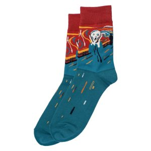 Socks Gents Munch The Scream Made With Cotton & Spandex by JOE COOL
