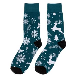 Socks Snowflakes Gents Made With Cotton & Nylon by JOE COOL