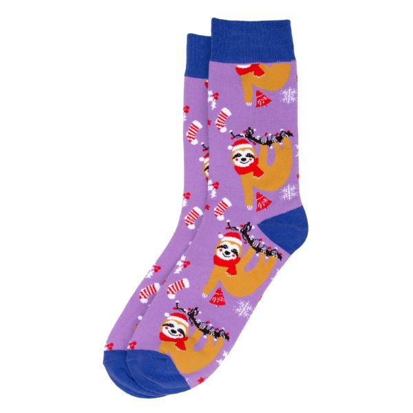 Socks Festive Sloth Gents Made With Cotton & Nylon by JOE COOL